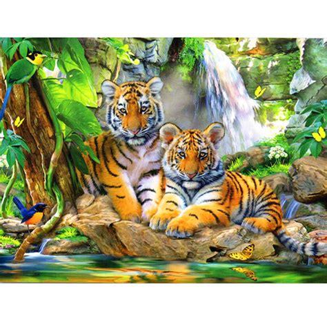 300-delna sestavljanka Tigri ob slapu - Castorland nakupovanje v IgračeShop