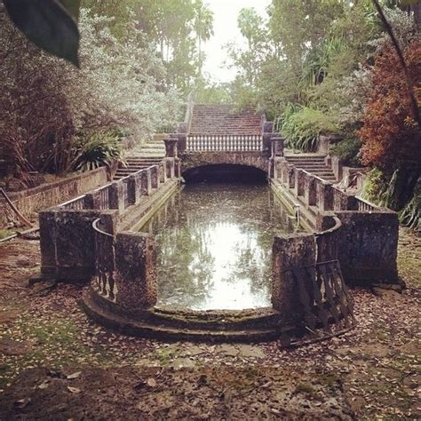 Haunted Attractions In Nj And Pa by A Mossy Reflecting Pool On An Abandoned Estate In Florida
