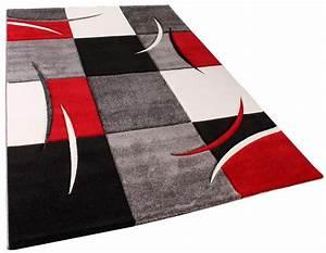 Teppich Rot Grau : designer teppich mit konturenschnitt karo muster rot schwarz wohn und schlafbereich designer ~ Whattoseeinmadrid.com Haus und Dekorationen