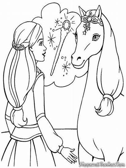 Barbie Coloring Horse Konj Pobarvanke Pegasus Gambar