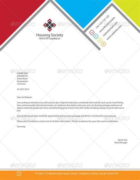 stylish housing society letterhead  shujaktk graphicriver