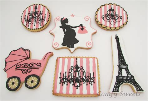 Paris Themed Baby Shower Cookies