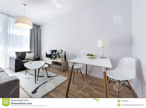 Modern Interior Design Room In Scandinavian Style Stock Photo