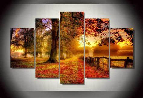 panels field  autumn group artwork multi canvas art