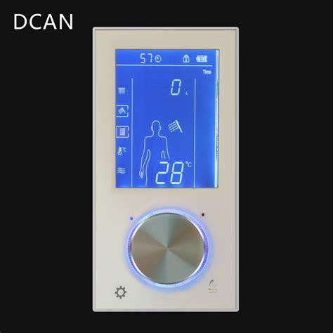 led digital display shower control mixer valve wall