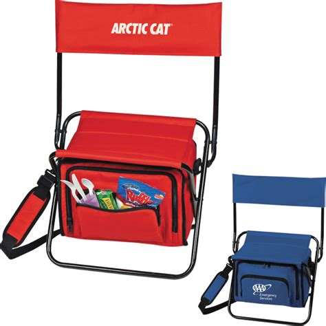 printed folding insulated cooler chair usimprints