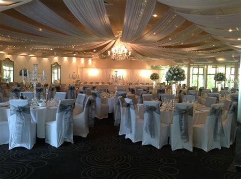 silver and white wedding reception decor for adelaide