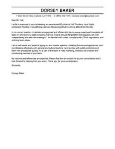 plumbing resume cover letter apprentice plumber cover letter sle my cover letter