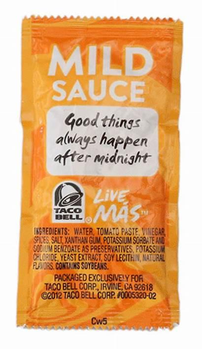 Taco Bell Packets Sauce Mild Kokomoperspective Vip