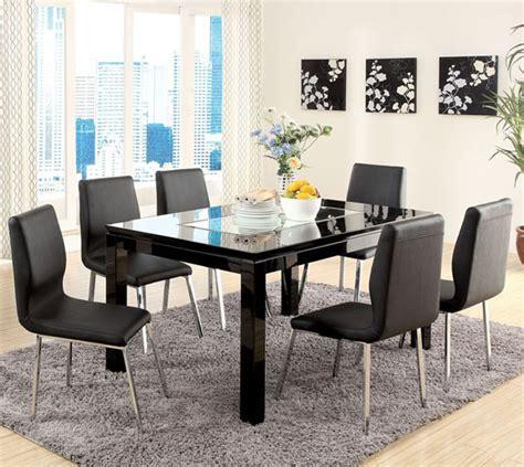 justine black mirror modern dining table set table