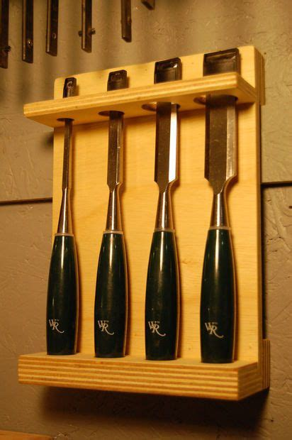 chisel storage rack hecho  mano woodworking
