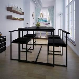 Table Haute 4 Personnes : table haute bar noire 8 personnes table de lit ~ Melissatoandfro.com Idées de Décoration