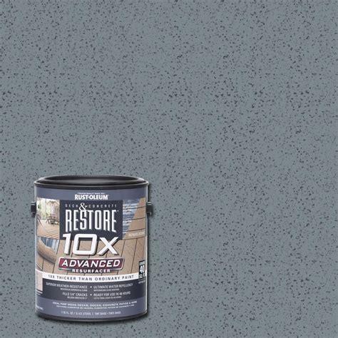 rust oleum restore  gal  advanced slate deck