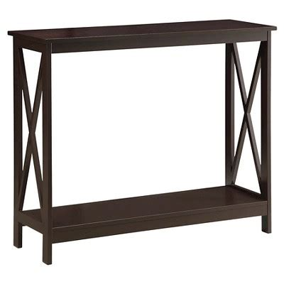 oxford console table espresso espresso convenience