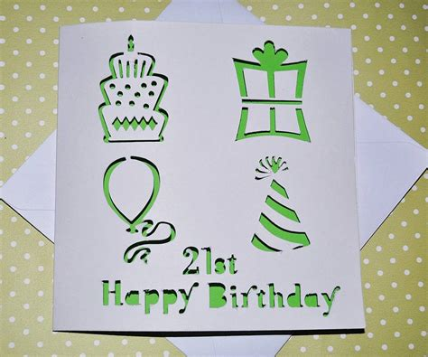 Birthday Card Image by Laser Cut Special Age Birthday Card By Sweet Pea Design