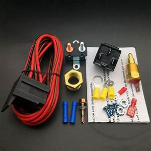 Electric Fan Wiring Install Kit Complete Thermostat 60 Amp