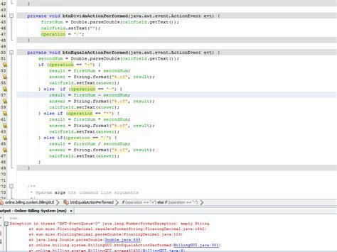 mathceil java not working error handling java calculator quot equal quot button not