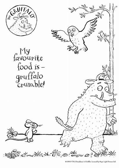 Gruffalo Coloring Pages Activities Colour Sheet Child