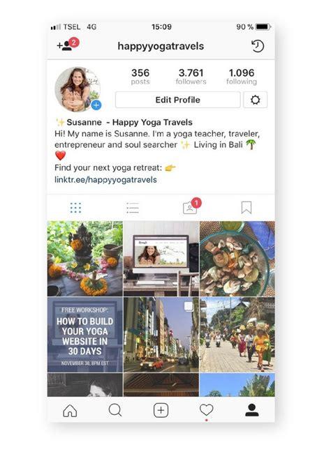 create  yoga instagram profile  pops