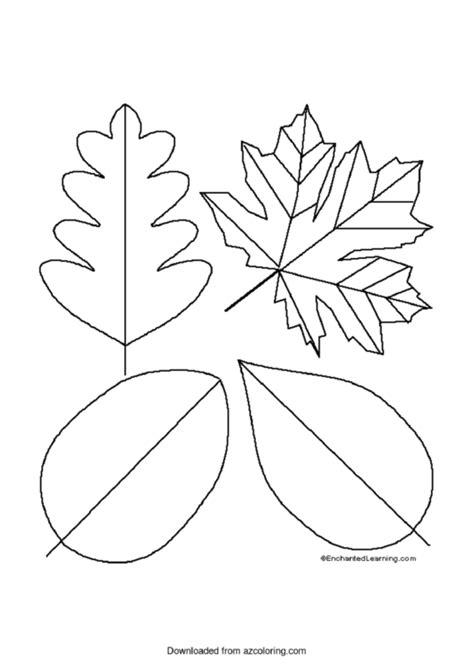 simple leaf templates printable
