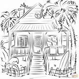 Coloring Pages Beach Printable Drawing Holidays Paper sketch template