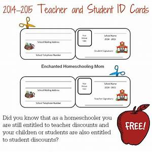 free homeschool teacher and student id cards free With teacher id card template