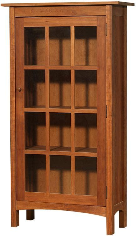 modern shaker glass door bookcase bookcase  glass