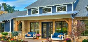 Modern Farmhouse With Black Windows