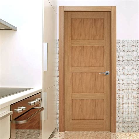 Oak Doors by Contemporary 4 Panel Shaker Oak Door