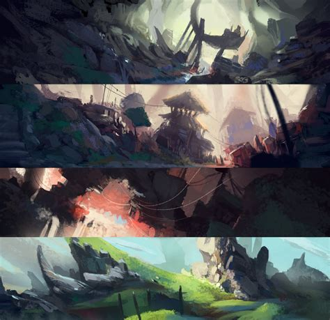 color key artstation color key environments luca pisanu
