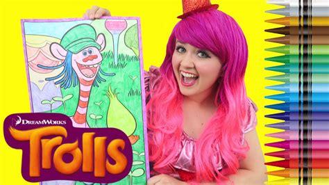 coloring cooper fuzzbert trolls giant coloring book