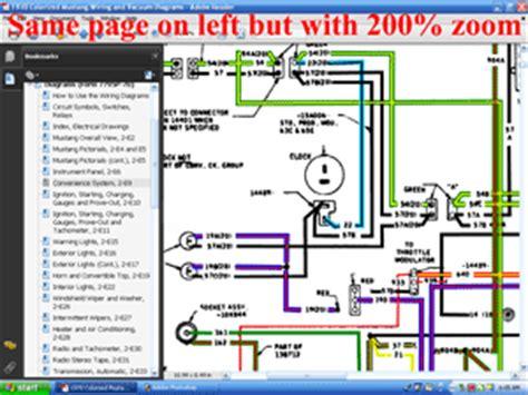 71 Mustang Dash Wiring Diagram by Cd 70 Mustang Colorized Wiring Vacuum Diagram