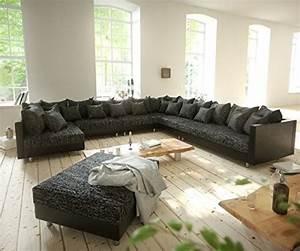 Xxl Sofa Mit Hocker : couch clovis xxl schwarz mit hocker ottomane rechts wohnlandschaft modulares sofa m bel24 ~ Bigdaddyawards.com Haus und Dekorationen