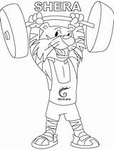 Coloring Weightlifting Pages Shera Clipart Line She Clip Library sketch template
