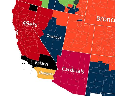 map shows  nfl team   county roots  www