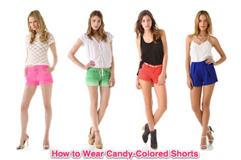 colored shorts summer 2011 fashion trend bright colored shorts