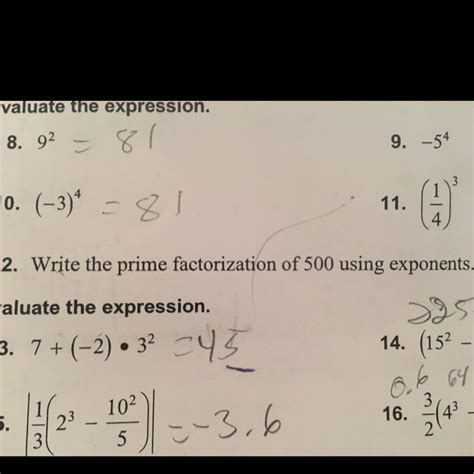 the prime factorization of 500 using exponents brainly