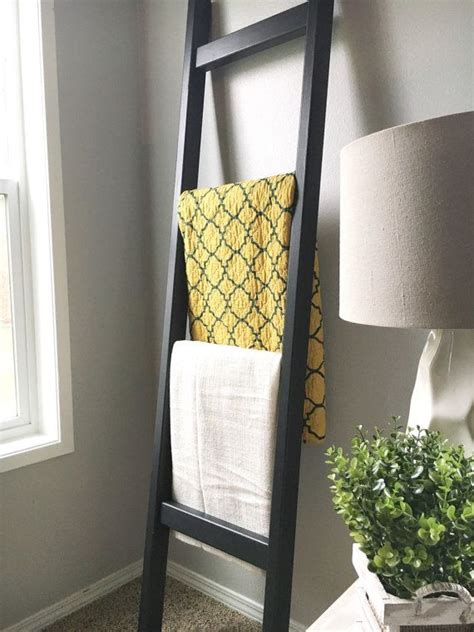 black wood blanket ladder black  white quilt ladder
