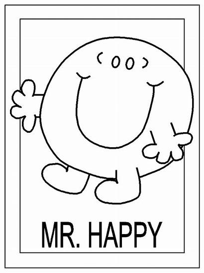 Coloring Mr Pages Miss Happy Sad Angry