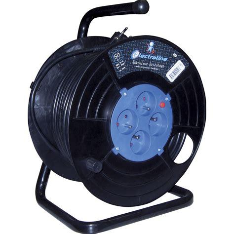 enrouleur cable electrique enrouleur de c 226 ble 233 lectrique bricolage l 30 m electraline leroy merlin