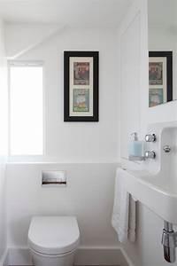 Bathroom sink under window powder room contemporary with ...