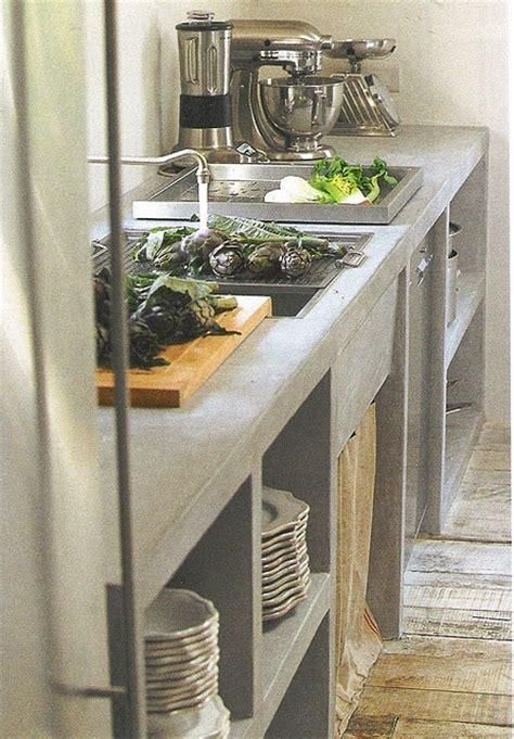 encimeras de cemento  la cocina