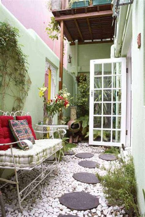 cool ideas  narrow  long outdoor spaces daily feed
