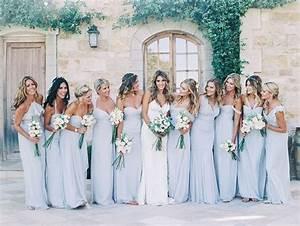 Robe Demoiselle D Honneur Bleu : les demoiselles d honneur en bleu pastel look mariage ~ Melissatoandfro.com Idées de Décoration