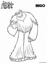 Smallfoot Coloring Pages Migo Printable Yeti Movie Compagnie Print Et Coloriage Cartoon Colorear Para Feet Birthday Pokemon Scribblefun Imprimir Imprimer sketch template