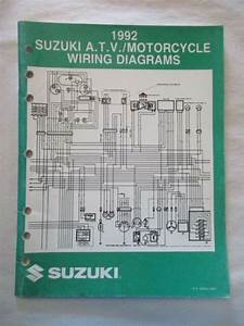 1992 Suzuki Atv    Motorcycle Wiring Diagrams Manual Pn