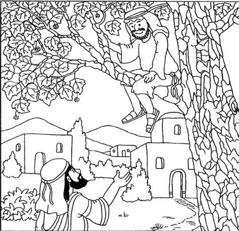 jesus  zacchaeus coloring page coloring home