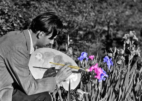 a touch of color black white photo with touch of color used