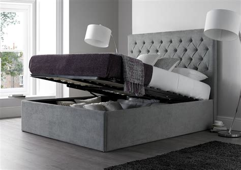 king size ottoman storage bed maxi steel grey upholstered ottoman storage bed frame only