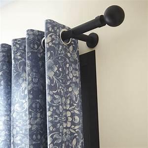Tringle A Rideau Noir : tringle rideau design noir mat 150 cm inspire leroymerlin tendance vintage industriel ~ Mglfilm.com Idées de Décoration